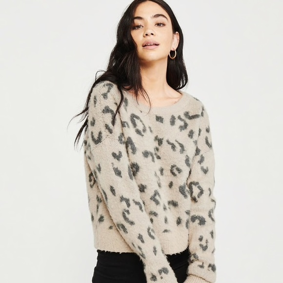 outlet store latest trends of 2019 super cheap compares to Abercrombie Brushed Leopard Sweater